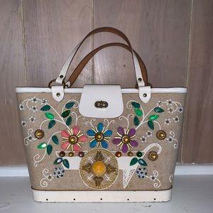 """Vintage Enid Collins """"Flower Cart"""" Bag"""